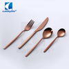 Cathylin luxury bronze copper stainless steel flatware set wedding rose gold cutlery