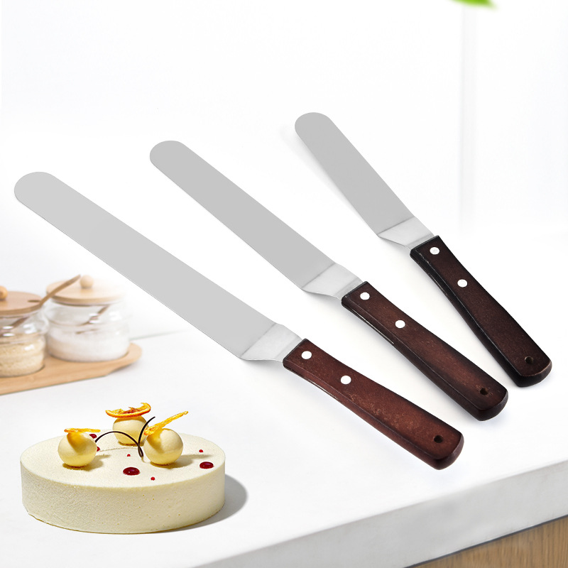 Natural bamboo wooden cheese cutter vintage wood wooden handle cream butter knife spreader