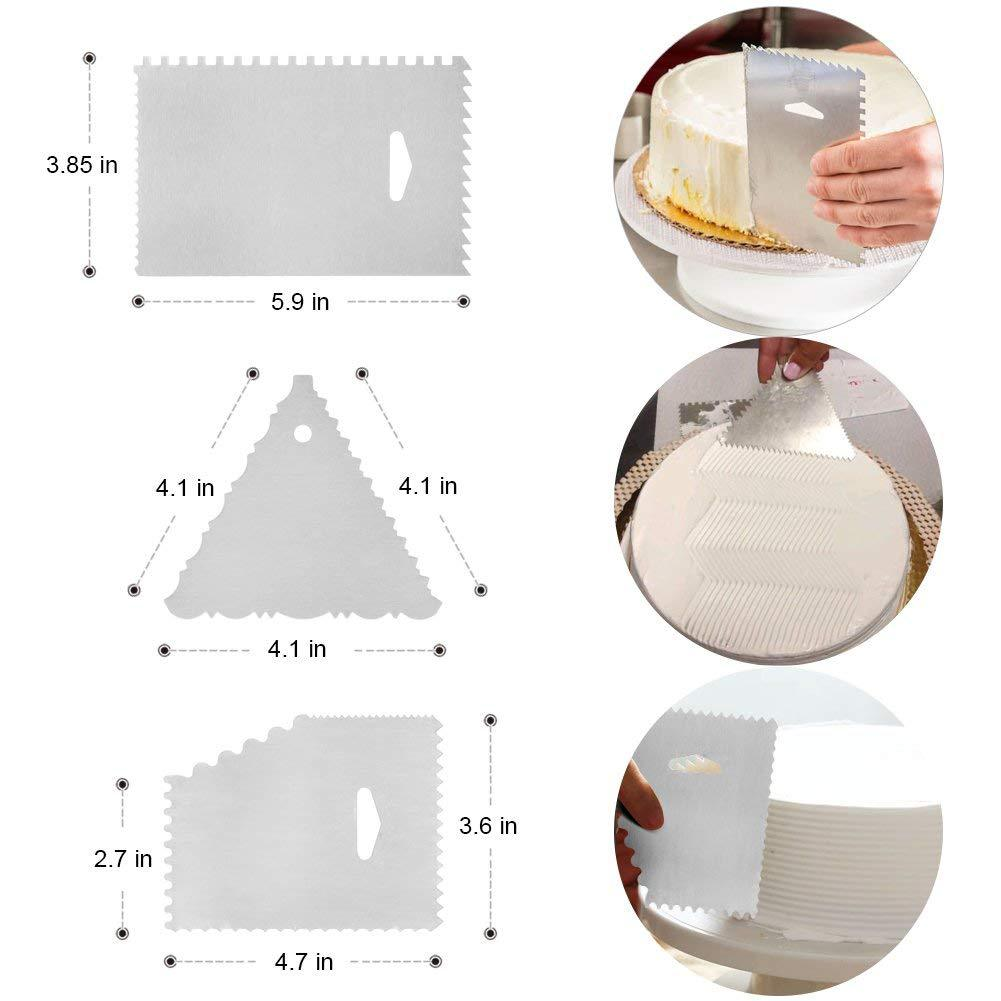 In China supplies wholesale accessories nozzle tips plate table spatula cake decorating tool set for wedding event decoration