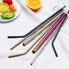 Amazon hot-sale reusable color metal food grade stainless steel drinking straw