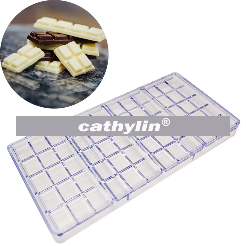 Rectangle shape plastic pc bar tools polycarbonate mould chocolate mold for baking candy