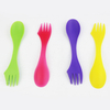 Wholesale bulk custom certification reusable plastic spork with customized logo 1 buyer